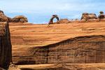 Delicate Arch - berühmtester  Natursteinbogen der USA