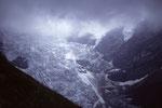 Oberer Grindelwaldgletscher bei Gewitter -  während des Abstieges