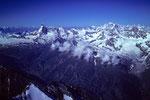 Sicht bis zum Mont Blanc 4810 m