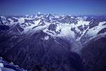 Traumsicht bis zum Montblanc 4810 m in der Ferne