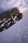 Zinalrothorn 4221 m im ersten Morgenlicht.