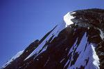 Eiger 3970 m kurz vor dem Gipfel