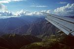 Landeanflug auf Kathmandu