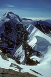Castor 4226m, Pollux 4091m und Roccia Nera 4075m - Tele -