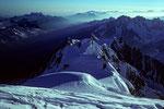 Aig. du Midi 3842m Und Mont Maudit 4465 m