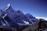 Ama Dablam 6856 m und Thamserku 6608 m