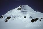 Mönch 4107 m von Osten - Abstieg zur Bärglihütte 3299 m