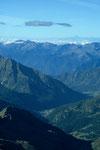 Blick nach Süden bis Monte Viso  3841 m - Entfernung ca. 150 km -