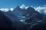 Obergabelhorn 4063 m mit Wellenkuppe 3903 m