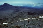 Abstieg zur Kibo Hütte  4694 m