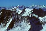 Blick auf Monte Rosa in der Ferne