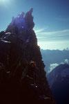 Michael und Walti am Grossen Gendarm 4091 m