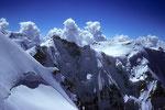 Gletscherhorn 3983 m und Äbeni Flue 3962 m