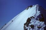 Lenzwand Gipfelbereich vom Abstiegsgrat zum Nadeljoch