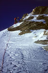Am Grat Pointe Burnaby  4135 m