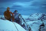 Gipfelglück mit Blick zum Matterhorn und Monte Rosa.