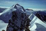 Castor 4226m, Pollux 4091m und Roccia Nera 4075m