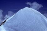 Breithorn West 4165m mit  vielen Bergsteigern