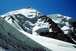 Piz Palü Ost- und Mittelgipfel aus dem Gletscherlabyrinth