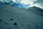 Aufstieg zum Gipfel  5165 m auf dem Gipfeleisfeld