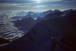 Blick über das Brunegghorn 3833 m nach Nordosten
