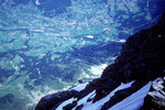 Tiefblick auf Grindelwald 1034 m;