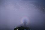 Gipfelkreuz im Halo.