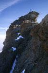 Binerplatte - schwierigste Kletterpassage.