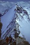 Blick vom Nadelhorn 4327 m zur Lenzspitze 4294 m