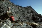 Surya Peak 5144 m vom Laurebina La  Aufstiegswand