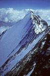 Lenzwand mit Lenzspitze 4294 m vom Nadelhorn 4327 m