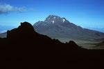 Blick von der Kibo Hütte zum Mawenzi  5148 m