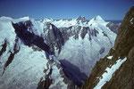 Ochs 3900 m, Jungfrau 4158 m und Mönch 4107 m