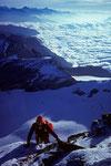 Aufstieg zum Gipfel Pointe Burnaby  4135 m