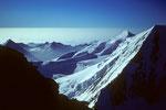 Alllinhorn 4027 m und rechts der Alphubel-Nordgrat