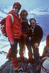 Gipfelglück mit Michael und Walti in memoriam