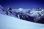 Abschiedsblick Matterhorn 4478 m bis Zinalrothorn 4221 m