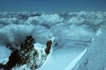 Blick von der Parrotspitze 4432 m auf Schwarzhorn  4322m und Ludwigshöhe 4341 m