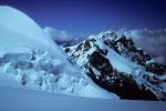 Gletscherbruch und Zermatter Breithorn
