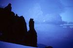 Berggestalten im Morgengrauen