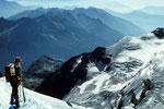 Blick nach Süden zu den italienischen Bergen