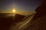 Sonnenaufgang aus der Nordflanke