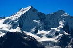 Dom 4545 m und Täschhorn 4491m vom Schöllihorn 3500 m