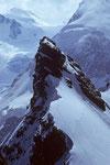 Breithorn Ostgipfel 4141m vom Breithorn Mittelgipfel 4160m  - Tele -