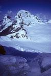Eiger 3970m und Mönch 4107 m von der  Wengen-Jungfrau 4089 m