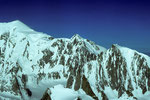 Mont Blanc 4807m, Mont Maudit 4465m und Montblanc du Tacul 4248m - Tele -