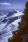 vorne Kletterkameraden im Hintergrund der Piz Palü  3905m