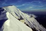 Aiguille de Bionnassay   4052 m  und Refuge du Gouter  3817 m