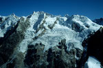 Gipfelkette mit Shishapangma  8027 m und Peak 5980 m