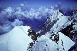 Silberhorn 3695 m mit Eiger 3970 m